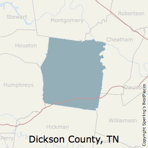 Dickson,Tennessee County Map