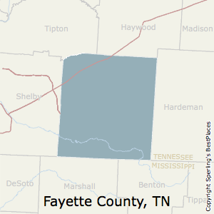 Fayette,Tennessee County Map