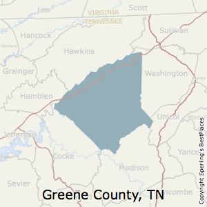 Greene,Tennessee County Map