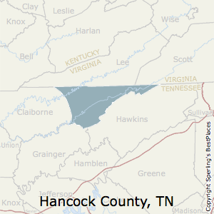 Hancock,Tennessee County Map