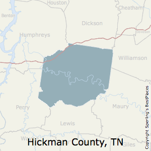 Hickman,Tennessee County Map