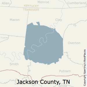 Jackson,Tennessee County Map
