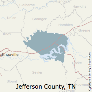 Jefferson,Tennessee County Map
