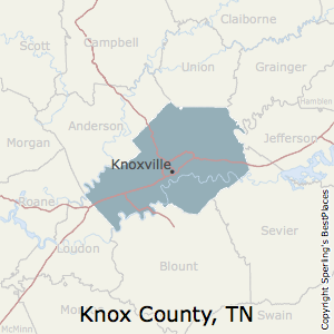 Knox,Tennessee County Map