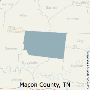 Macon,Tennessee County Map
