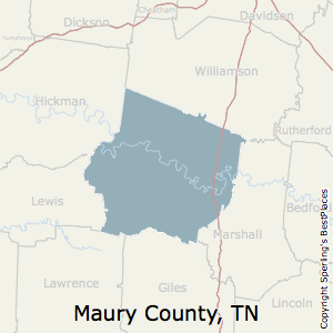 Maury,Tennessee County Map