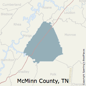 McMinn,Tennessee County Map