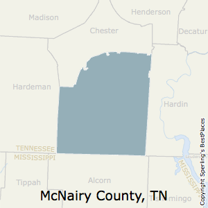 McNairy,Tennessee County Map