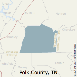 Polk,Tennessee County Map