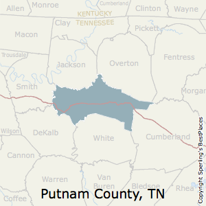 Putnam,Tennessee County Map