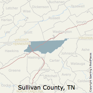 Sullivan,Tennessee County Map