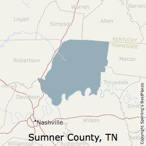 Sumner,Tennessee County Map