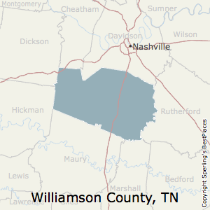 Williamson,Tennessee County Map