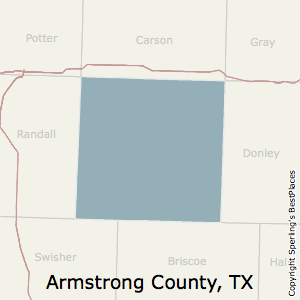 Armstrong,Texas County Map