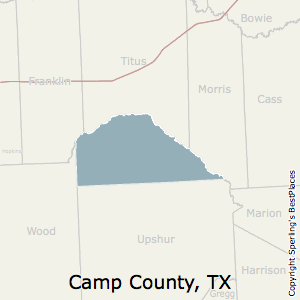 Camp,Texas County Map