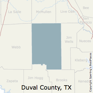 Duval,Texas County Map