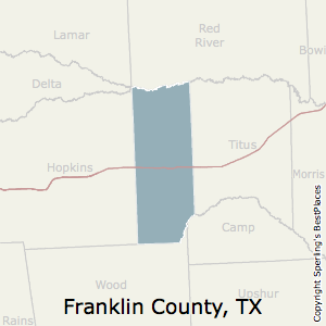 Franklin,Texas County Map