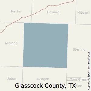 Glasscock,Texas County Map