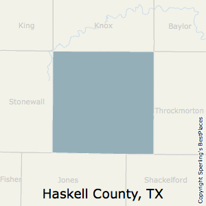Haskell,Texas County Map