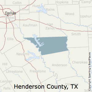 Henderson,Texas County Map