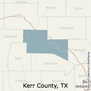 Kerr,Texas County Map