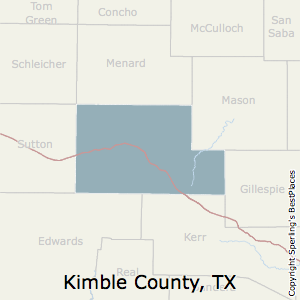 Kimble,Texas County Map