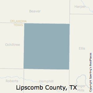 Lipscomb,Texas County Map