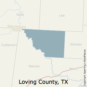Loving,Texas County Map