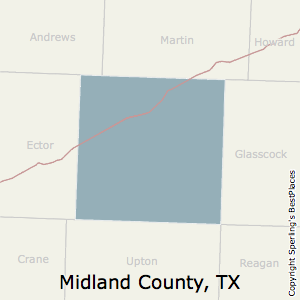 Midland,Texas County Map