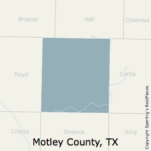 Motley,Texas County Map