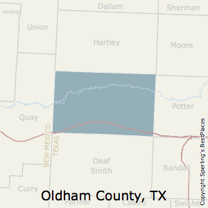 Oldham,Texas County Map