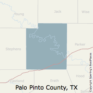Palo_Pinto,Texas County Map