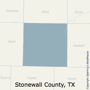 Stonewall,Texas County Map