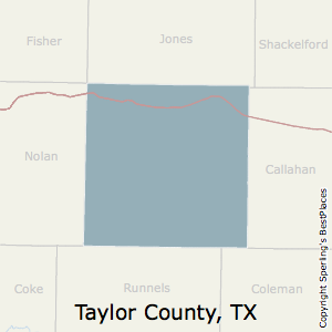 Taylor,Texas County Map