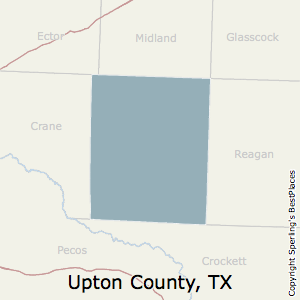 Upton,Texas County Map