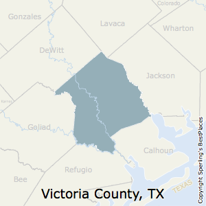 Victoria,Texas County Map