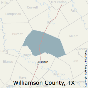 Williamson,Texas County Map