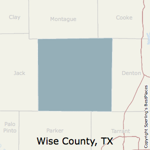Wise,Texas County Map