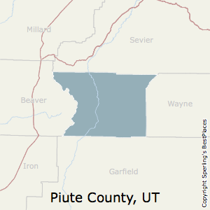Piute,Utah County Map