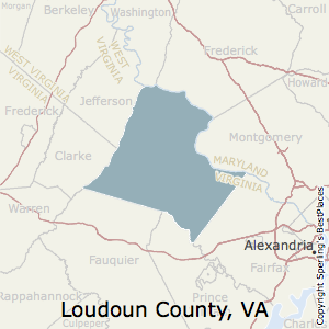Loudoun,Virginia County Map