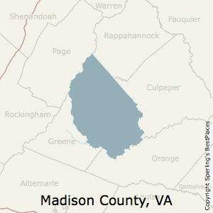Madison,Virginia County Map