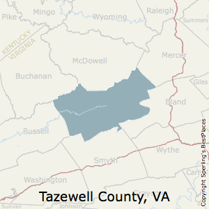 Tazewell,Virginia County Map