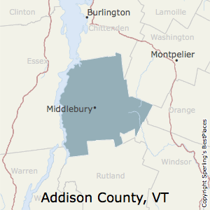 Addison,Vermont County Map