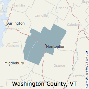 Washington,Vermont County Map