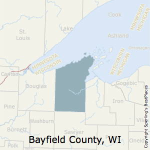 Bayfield,Wisconsin County Map