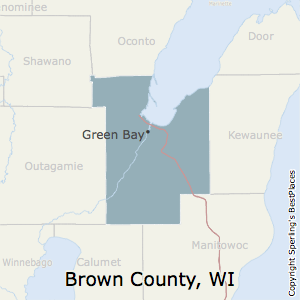 Brown,Wisconsin County Map