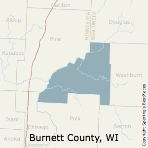 Burnett,Wisconsin County Map