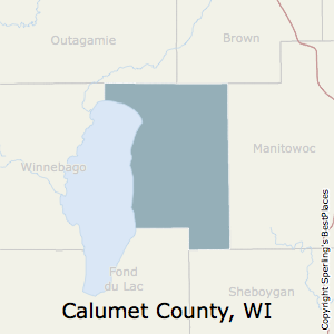 Calumet,Wisconsin County Map