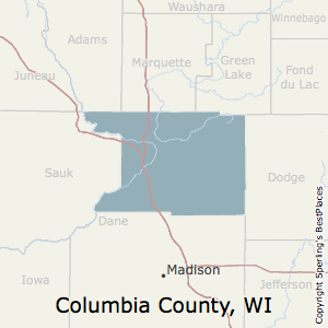 Columbia,Wisconsin County Map