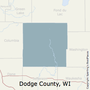 Dodge,Wisconsin County Map